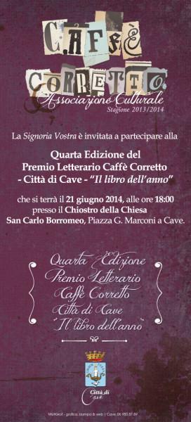 InvitoIVPremioLetterarioCaffeCorretto2014