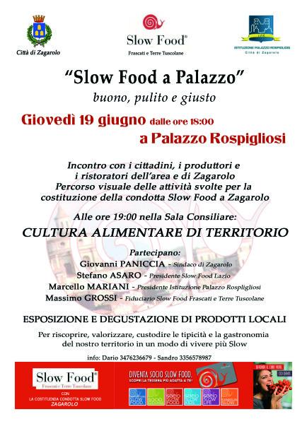 Slow Food 19 giugno