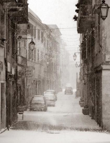 Palestrina sotto la neve