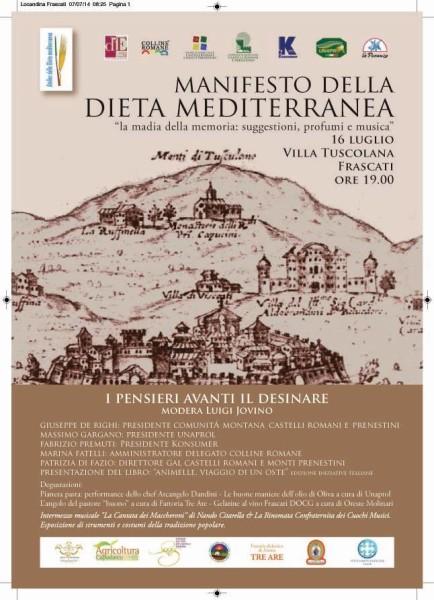 locandina - dieta mediterranea