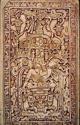 foto 5 la lastra tombale vista dai cultori dell'ipotesi aliena