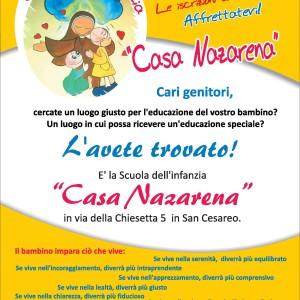 """San Cesareo, aperte le iscrizioni per la scuola dell'infanzia """"Casa Nazarena"""""""