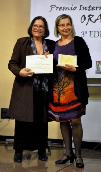 La vincitrice del Premio Luciana Raggi