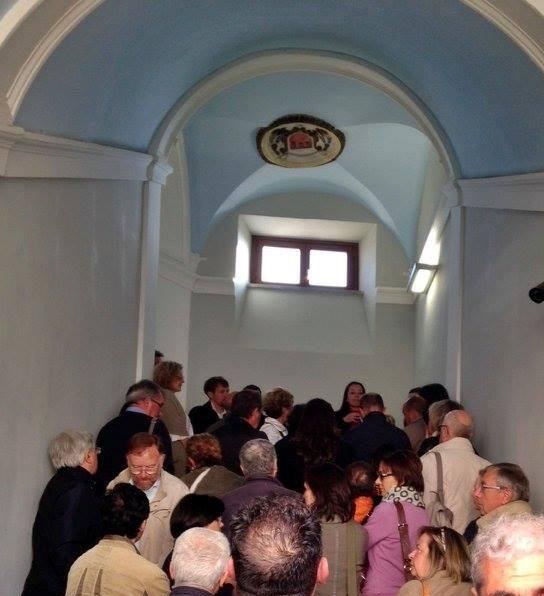 Visitatori presso lo Scalone Ludovisi