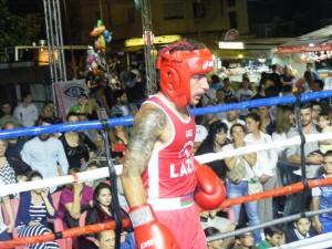 Il pugile Damiano Rossi della Boxe Volsca in azione