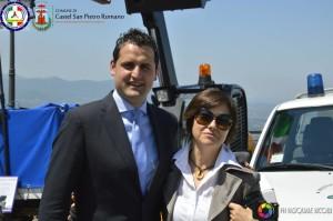 il sindaco e l'Assessore alle politiche sociali - Vice Sindaco Patrizia Fornari