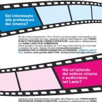 TORNO SUBITO 2015 Professioni Cinematografiche – scadenza 6 luglio