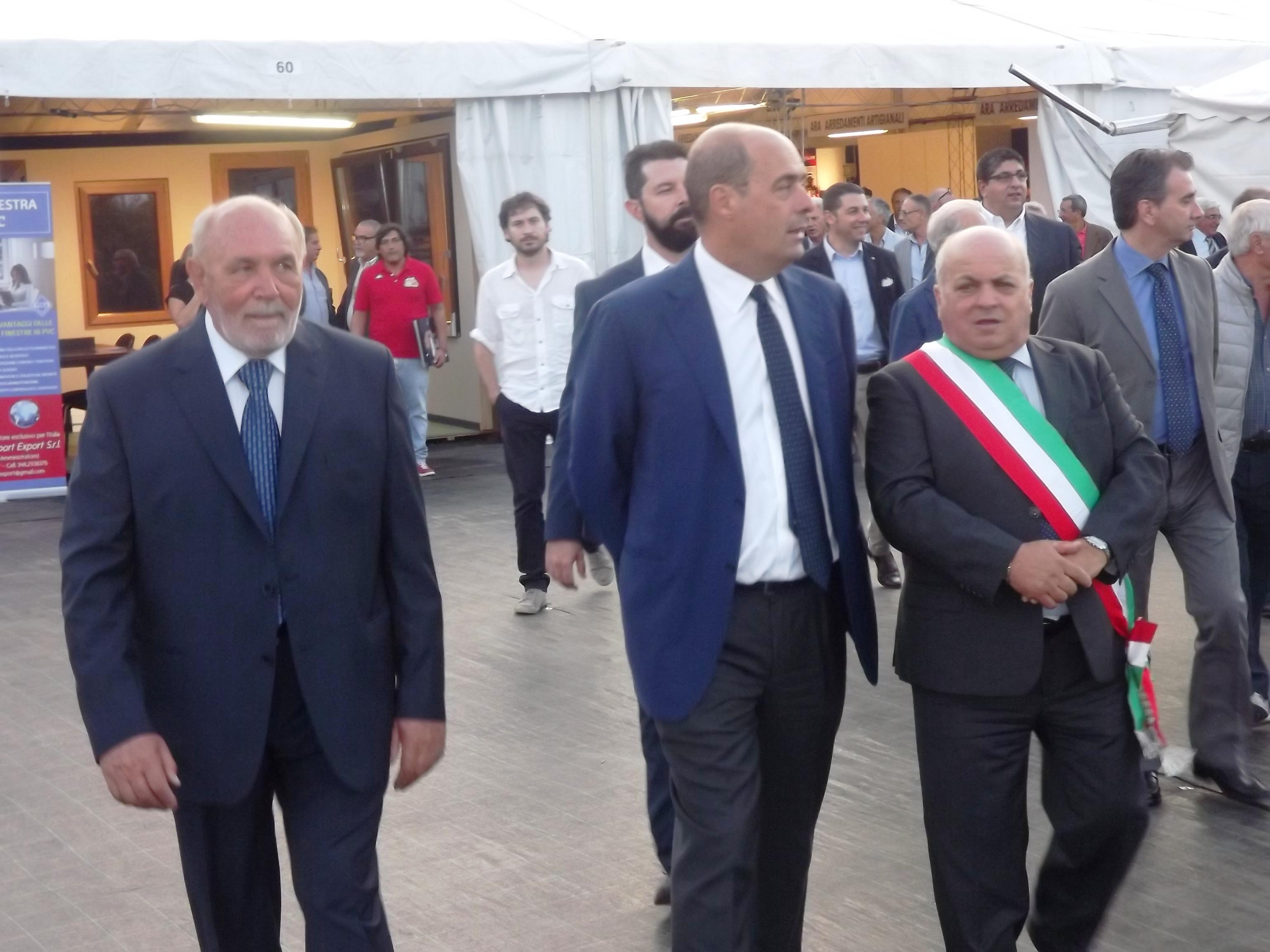 il presidente Nicola Zingaretti visita la Sagra del Fungo Porcino