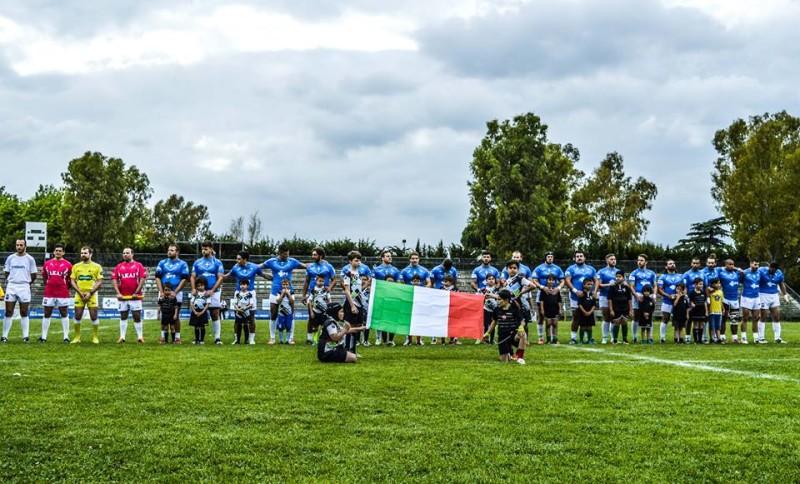 la nazionale di rugby a 13 con franzoni capitano che ha sfidato BARA