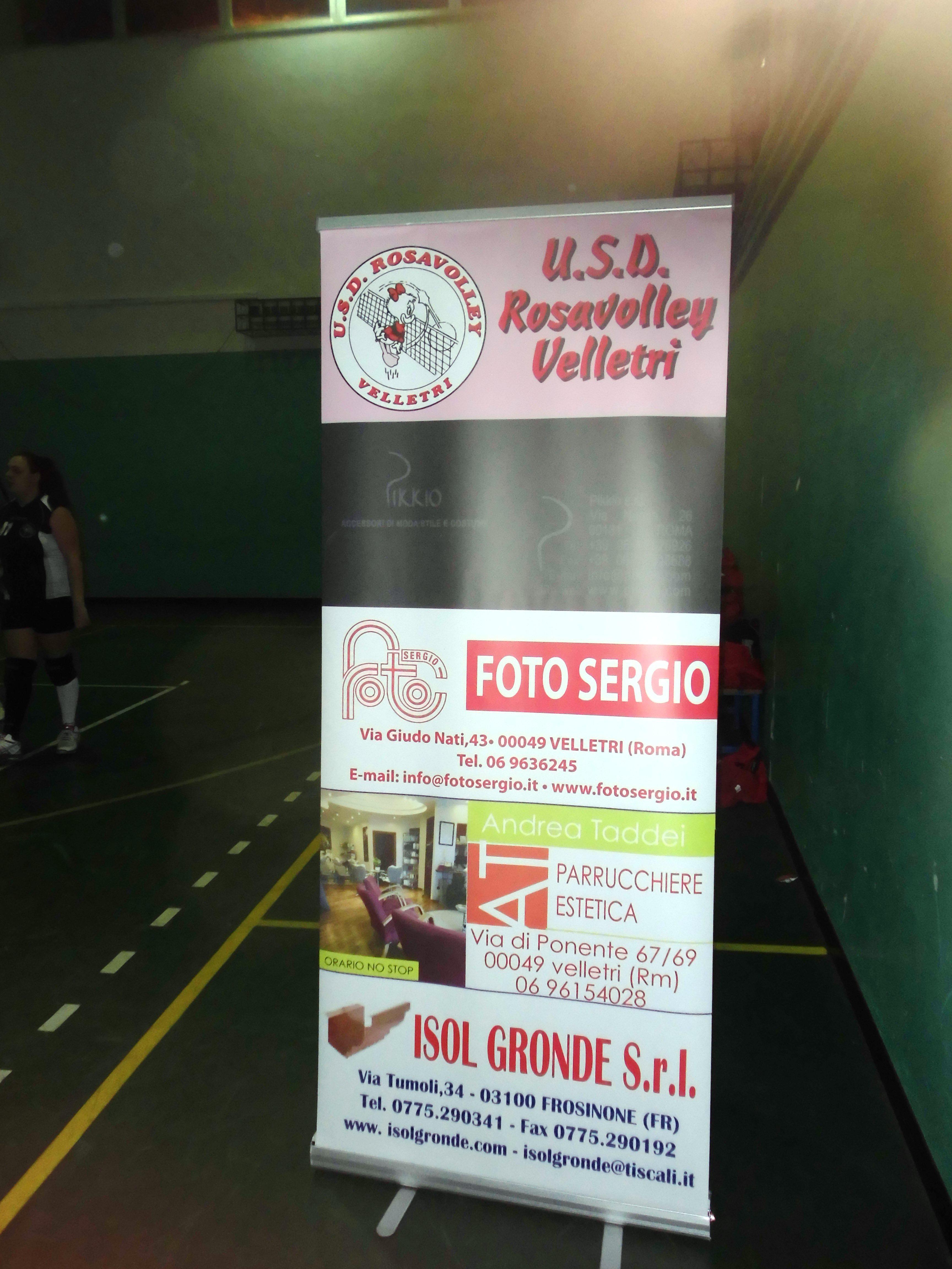 ROSAVOLLEY VELLETRI IL NUOVO CARTELLONE CON IL LOGO DELLA SOCIETA'