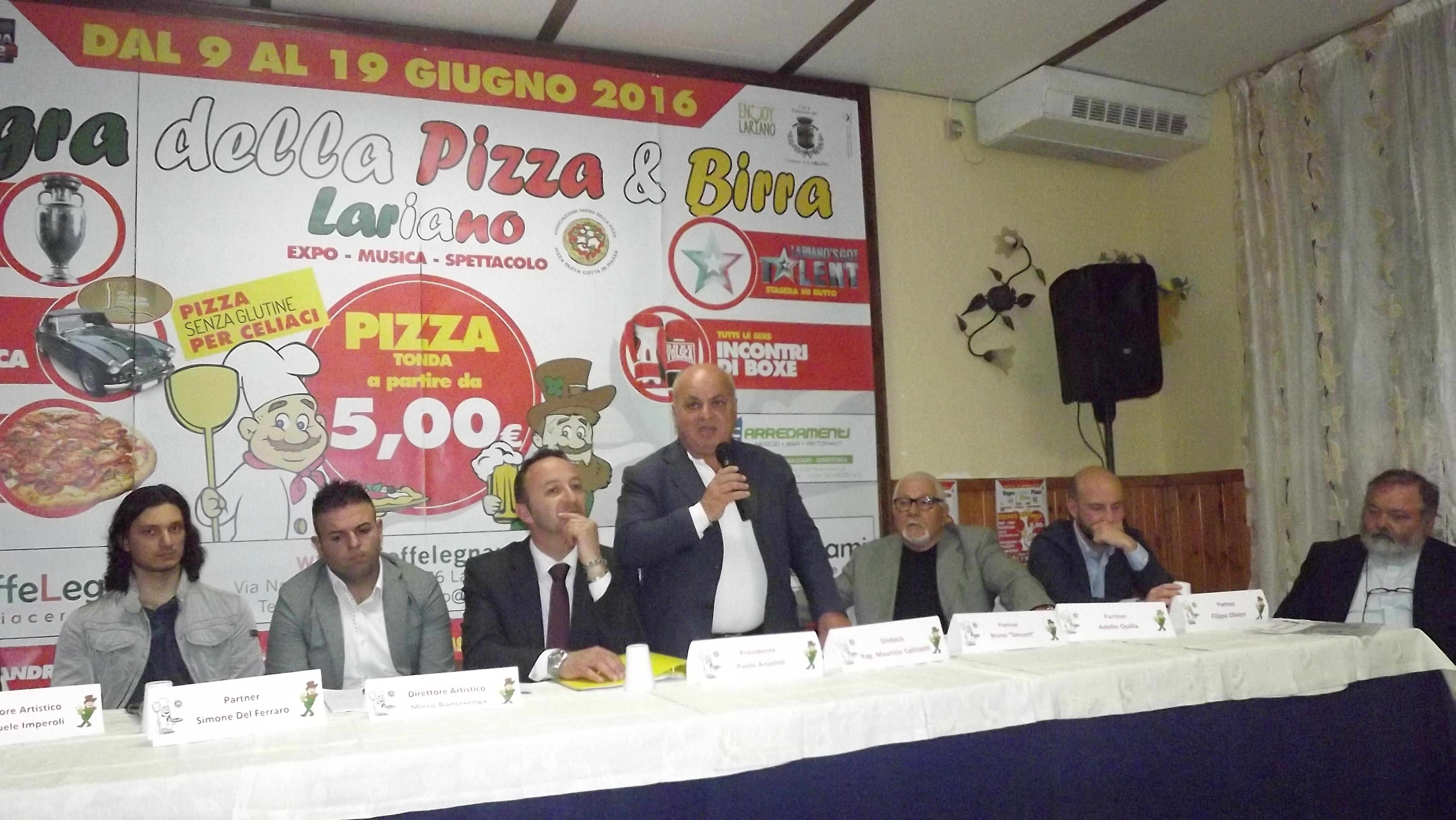 l'intervento del sindaco di Lariano Maurizio Caliciotti