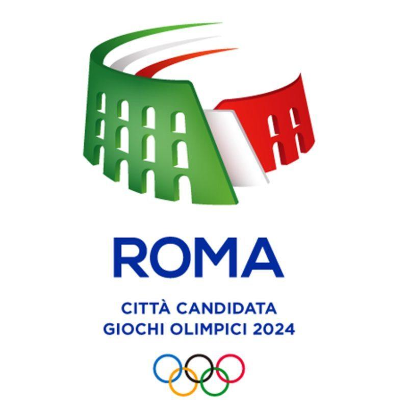 Un Colosseo tricolore che sfuma in una pista di atletica. E' questo il logo - con al centro il simbolo della Capitale - che accompagnerà il sogno della candidatura di Roma alle Olimpiadi del 2024 e sta per essere presentato in una cerimonia al Palazzetto dello sport. ANSA- COMITATO OLIMPICO EDITORIAL USE ONLY