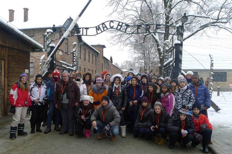 Gli studenti del Chiominto durante il viaggi della memoria 2015 (11)