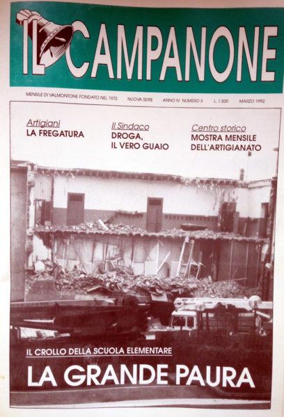 campanone crollo scuola 92