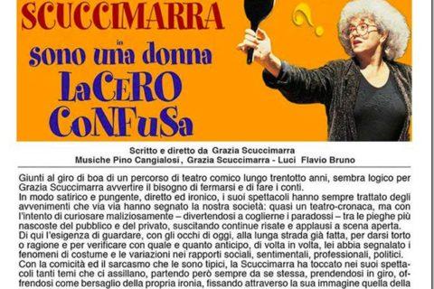 AL TEATRO CAESAR DI SAN VITO ROMANO ARRIVA GRAZIA SCUCCIMARRA