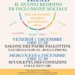 R.E.I., il nuovo reddito di inclusione sociale – Due incontri a Rocca Priora per approfondire