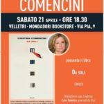 """Sabato 21 aprile alla Mondadori di Velletri Cristina Comencini presenta """"Da soli"""""""
