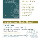 20 aprile a Zagarolo, incontro con Dario Renzi
