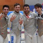 Frascati Scherma: tre ori a squadre agli europei Under 23, tre podi nella Coppa Italia Giovani