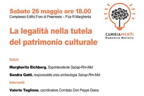 """Palestrina: conferenza """"La legalità nella tutela del patrimonio culturale"""""""