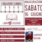 Partenza per Velletri Libris: sabato inaugurazione, concerto di benvenuto e incontro con Giampiero Mughini