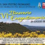 La sedicesima edizione dell'Itinerario Enogastronomico a Castel San Pietro Romano