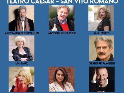 LA STAGIONE 2018/2019 AL TEATRO CAESAR DI SAN VITO ROMANO