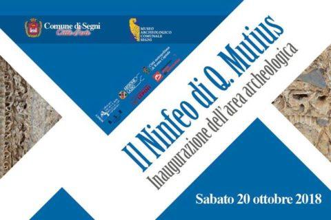 """Segni: inaugurazione area archeologica """"Il Ninfeo di Q.Mutius"""""""
