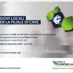 Banca Centro Lazio: inaugurazione dei nuovi locali per la filiale di Cave