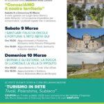 """Gli eventi della Settimana della Cultura nel Distretto Turistico Tivoli, Palestrina, Subiaco: """"ConosciAmo il nostro territorio"""""""