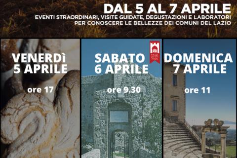 Dal 5 al 7 aprile un weekend alla scoperta del Lazio e di Palestrina