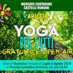 Yoga per tutti, gratuito, open-air al Mercato Contadino di Ariccia