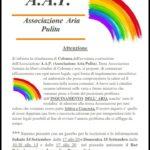 """COLONNA: E NATA  L' """"A.A.P"""" , ASSOCIAZIONE ARIA PULITA"""