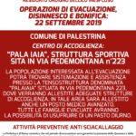 evacuazione disinnesco ordigno bellico comunicato n° 2