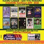 STAGIONE 2019 – 2020 AL TEATRO CAESAR DI SAN VITO ROMANO