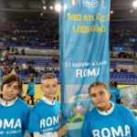 Atletico Lodigiani, tre ragazzi della Scuola calcio hanno sfilato all'Olimpico durante Italia-Grecia