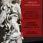 Restaurata la pala d'altare della chiesa di Santa Rosalia a Palestrina