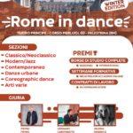 ARRIVA ROME IN DANCE, EDIZIONE INVERNALE, DEL CONCORSO DI DANZA DI INIZIO ANNO