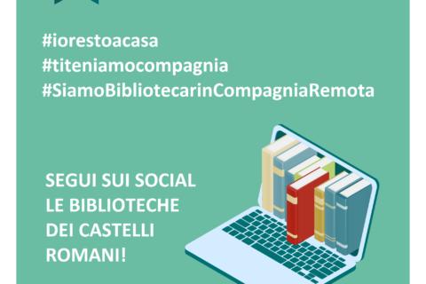 TUTTI A CASA IN COMPAGNIA DELLE BIBLIOTECHE DEI CASTELLI ROMANI!