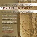 Inaugurazione dei lavori di restauro della cripta di Sant'Agapito a Palestrina