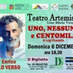 """Teatro Artemisio-Volontè di Velletri, informativa per gli spettacoli """"Maurizio IV"""" e """"Uno, nessuno e centomila"""""""