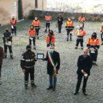 L'amministrazione comunale di Cori omaggia la Protezione Civile